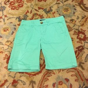 American eagle bright turquoise Bermuda shorts